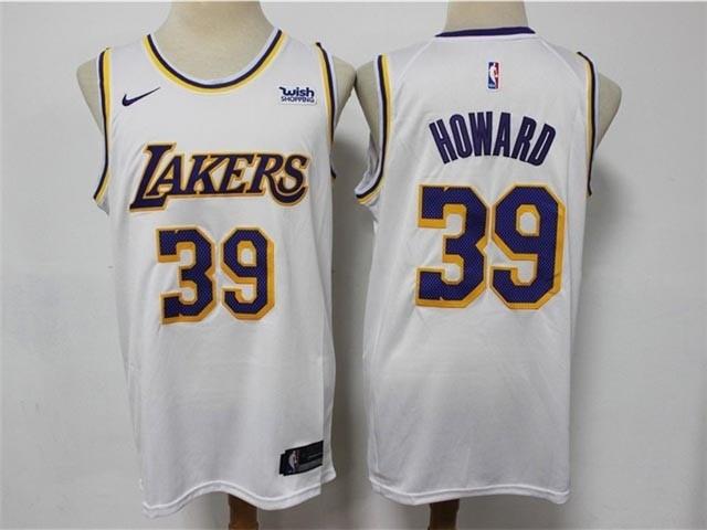 Los Angeles Lakers #39 Dwight Howard White Swingman Jersey