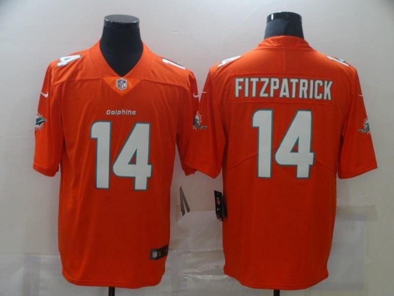 Nike Dolphins #14 Ryan Fitzpatrick Orange Vapor Untouchable Limited Jersey