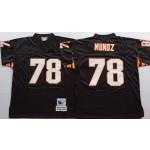 NFL Cincinnati Bengals Anthony Munoz #78 black throwback Jersey
