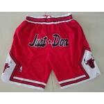 Bulls Just don shorts Red