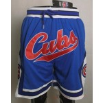 Chicago Cubs blue Just don shorts