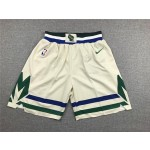Milwaukee Bucks beige shorts