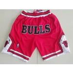 (Bulls) Red Just don shorts
