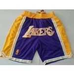 Lakers Just don shorts purple