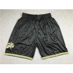 76ers Retro Black 76ers Just don shorts