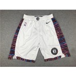 Brooklyn Nets white 2020 City Edition Shorts