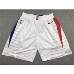 Clippers white retro ball pants
