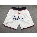 Wizards White Bullets Just don shorts