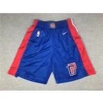 Detroit Pistons Blue Shorts