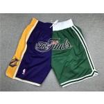Lakers vs Celtics Just don shorts