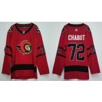Ottawa Senators #72 Thomas Chabot Red Men's Adidas 2020-21 Reverse Retro Alternate NHL Jersey