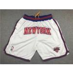New York Knicks White Just don shorts