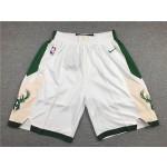 Milwaukee Bucks White Shorts