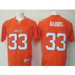 CFL BC Lions Harris #33 Orange jersey