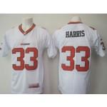 CFL BC Lions Harris #33 White jersey