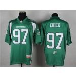CFL Saskatchewan Roughriders chick #97 green Jersey