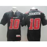 CFL Ottawa Redblacks Johnson #10 black jersey