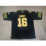 CFL Hamilton Tiger Cats Banks #16 black jersey