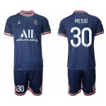 21-22 Paris Saint-Germain F.C #30 Lionel Messi Navy Home Soccer Jersey