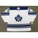 Men's Toronto Maple Leafs #23 Eddie Shack White Throwback CCM jersey