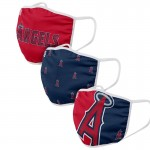 Los Angeles Angels Adult Cloth Face Covering 3-Pack