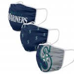 Seattle Mariners Adult Cloth Face Covering 3-Pack
