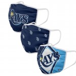 Tampa Bay Rays Adult Cloth Face Covering 3-Pack