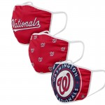 Washington Nationals Adult Cloth Face Covering 3-Pack