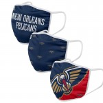 Adult New Orleans Pelicans Cloth Face Covering 3-Pack