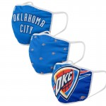 Adult Oklahoma City Thunder Cloth Face Covering 3-Pack