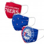 Adult Philadelphia 76ers Cloth Face Covering 3-Pack