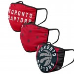Adult Toronto Raptors Cloth Face Covering 3-Pack