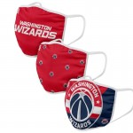 Adult Washington Wizards Cloth Face Covering 3-Pack