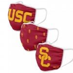 University of Southern California Youth Trojan Adult Cloth Face Covering 3-Pack