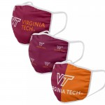 Virginia Tech University Adult Cloth Face Covering 3-Pack