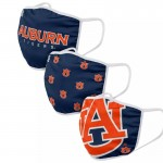 Young Auburn Tigers Adult Cloth Face Covering 3-Pack