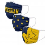 Young Michigan Wolverine Adult Cloth Face Covering 3-Pack