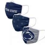 Young Penn State University Nittany Lions Adult Cloth Face Covering 3-Pack