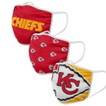 Kansas City Chiefs Adult Face Covering 3-Pack