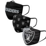 Las Vegas Raiders Adult Face Covering 3-Pack