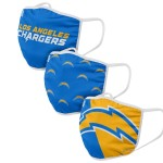 Los Angeles Chargers Adult Face Covering 3-Pack