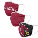 MasksNFL8000Arizona Cardinals Adult Face Covering 3-Pack