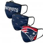 New England Patriots Adult Face Covering 3-Pack