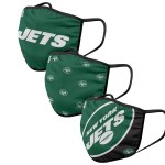 New York Jets Adult Face Covering 3-Pack