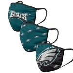 Philadelphia Eagles Adult Face Covering 3-Pack