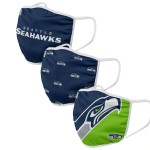 Seattle Seahawks Adult Face Covering 3-Pack