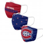 Montreal Canadiens Face Covering 3-Pack