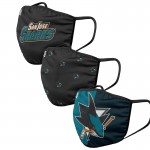 San Jose Sharks Face Covering 3-Pack