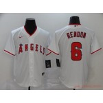 MLB Los Angeles Angels #6 Anthony Rendon White 2020 Nike Cool Base Jersey