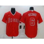 MLB Los Angeles Angels #6 Anthony Rendon Red 2020 Nike Cool Base Jersey